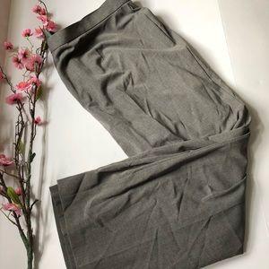SAG Harbor 22W Stretch Gray Slacks Dress Pants